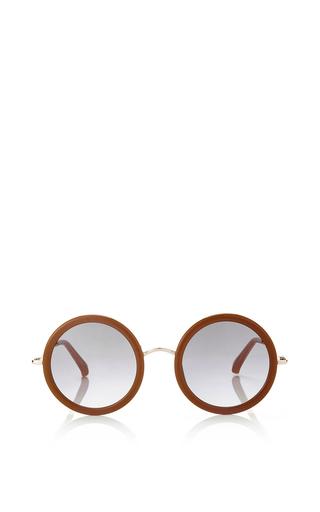 Medium linda farrow multi the row honey white quadruple grey grad lens sunglasses