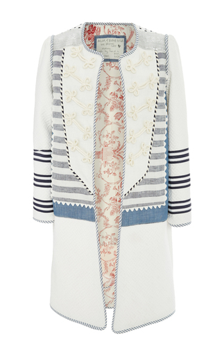 Medium alix of bohemia white breton coat
