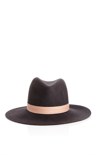 Medium janessa leone black janessa leone felt hat in black