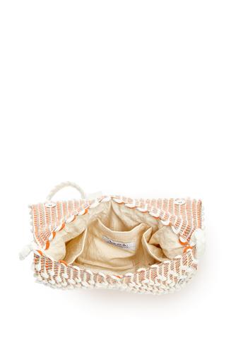 M'o Exclusive Suni Diamond Clutch In Ivory, Orange & Nut by ANTONELLO Now Available on Moda Operandi