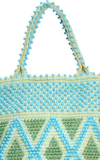 M'o Exclusive Large Capriccioli Diamond Tote In Turquoise & Green by ANTONELLO Now Available on Moda Operandi