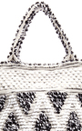 Large Capriccioli Diamond Tote In White & Black by ANTONELLO Now Available on Moda Operandi