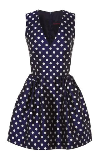 Medium martin grant print navy and white silk bell shaped mini dress