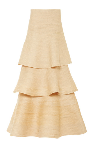 Medium rosie assoulin brown natural hemp braided hummingbird skirt 2