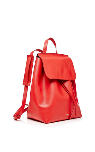 Calf Leather Backpack In Flamma by MANSUR GAVRIEL Now Available on Moda Operandi