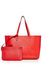 Calf Leather Small Tote In Flamma With Flamma Interior by MANSUR GAVRIEL Now Available on Moda Operandi