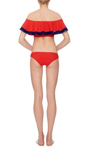 Mira Red Bonded Bikini by LISA MARIE FERNANDEZ Now Available on Moda Operandi