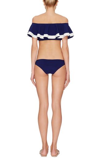 Mira Navy Bonded Flounce Bikini by LISA MARIE FERNANDEZ Now Available on Moda Operandi