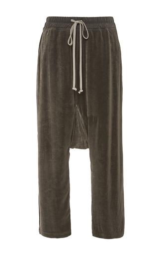 Medium rick owens dark grey velvet cropped pants