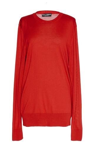 Medium dolce gabbana red pullover girocollo red sweater