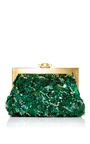 Embellished Rose Clutch With Chain Strap  by DOLCE & GABBANA Now Available on Moda Operandi