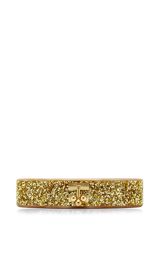 Nude And Gold Confetti Oval Edie Clutch by EDIE PARKER Now Available on Moda Operandi