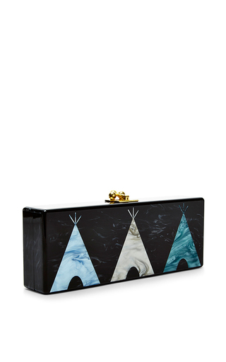 Teepee Motif Rectangular Flavia Clutch by EDIE PARKER Now Available on Moda Operandi