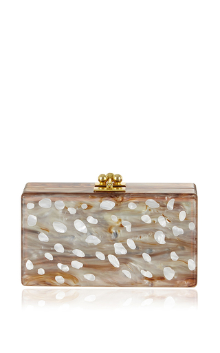 Bambi Confetti Rectangular Jean Clutch by EDIE PARKER Now Available on Moda Operandi