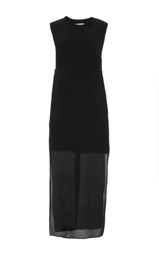 Black Sleeveless Lowry Silk Maxi Dress  by A.L.C. Now Available on Moda Operandi