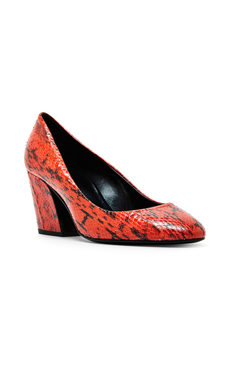 Red Calamity Snake Skin Pumps by PIERRE HARDY Now Available on Moda Operandi