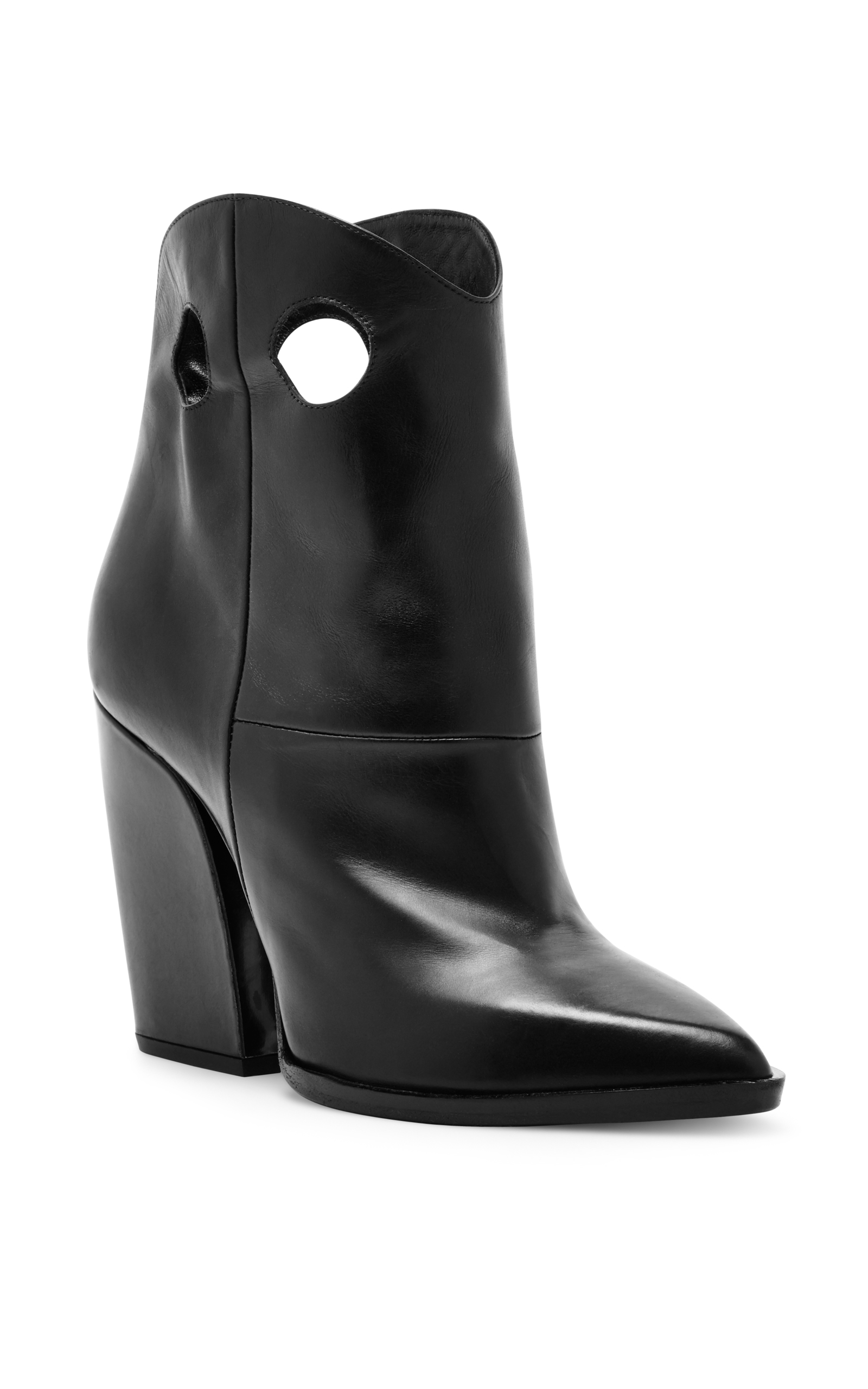 Pierre Hardy Leather Velvet-Trimmed Booties sale choice authentic online finishline for sale sale UbXI2N