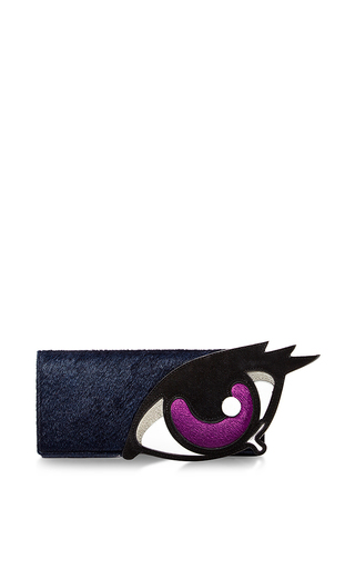 Medium pierre hardy black oh roy eye pouch