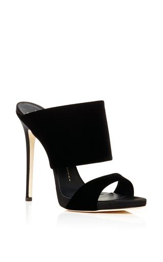 Black Veronica Two Strap Slides by GIUSEPPE ZANOTTI Now Available on Moda Operandi