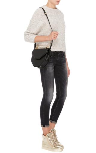 Metallic Mirror Calf Leather High Top Sneakers by GIUSEPPE ZANOTTI Now Available on Moda Operandi