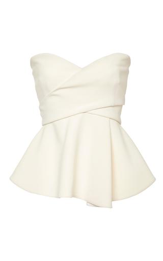Medium derek lam 10 crosby white soft white strapless corset with metallic bands