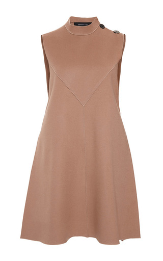 Medium derek lam tan camel sleeveless flare dress