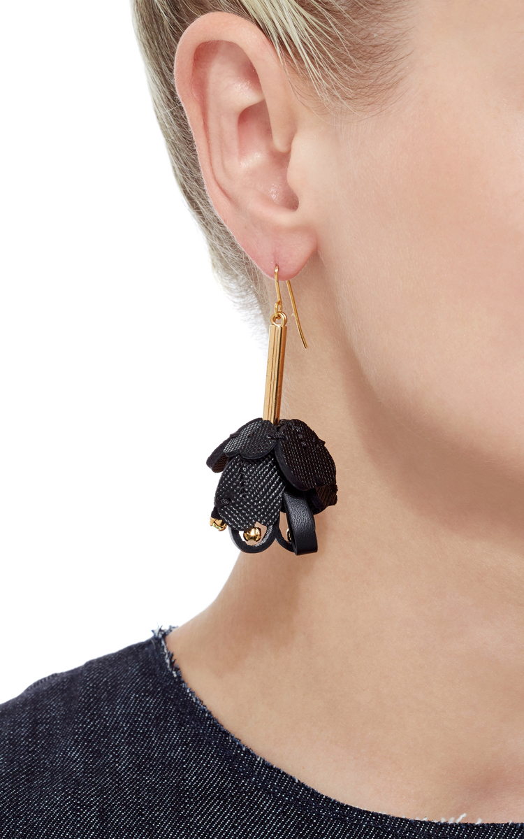 Floral leather earrings Marni dtQ3ZIC8