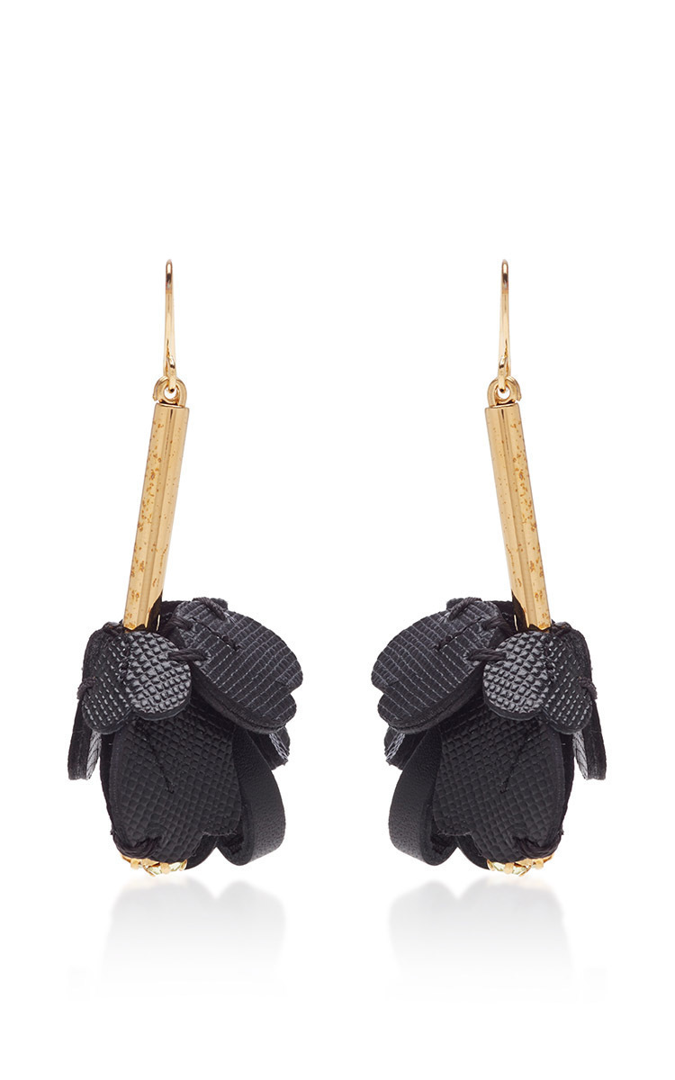 Marni Floral leather earrings 9U5Qk