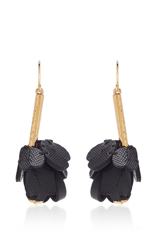 shop black leather marni hanging earrings deal amazing on