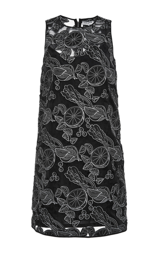 Black Laser Cut Shift Dress by OPENING CEREMONY Now Available on Moda Operandi