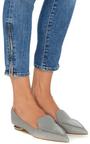 Grey Leather Botalatto Flat Loafers by NICHOLAS KIRKWOOD Now Available on Moda Operandi