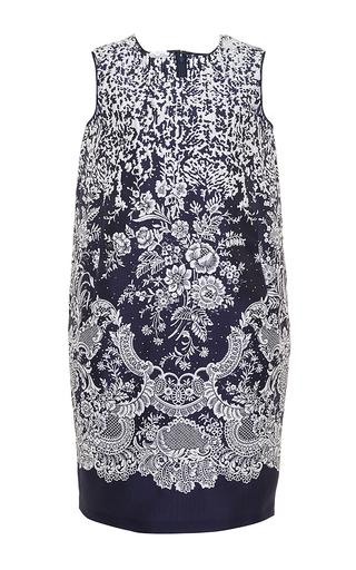 Shift Printed Day Dress With Pocket  by OSCAR DE LA RENTA Now Available on Moda Operandi
