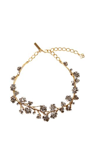 Medium oscar de la renta black crystal branch necklace