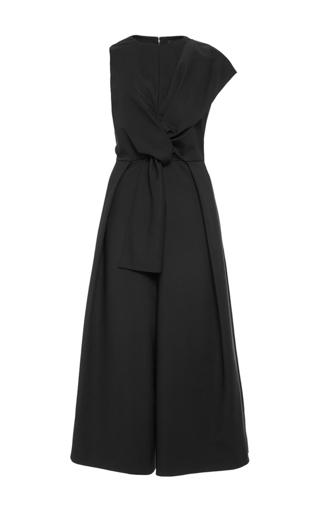 Medium tibi black agathe bow jumpsuit  2