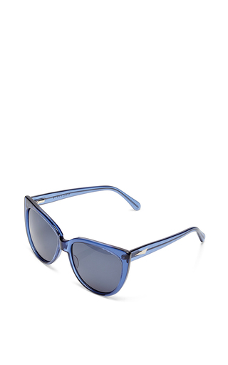 Moscow Blue Paint Stoke Sunglasses by PRISM Now Available on Moda Operandi