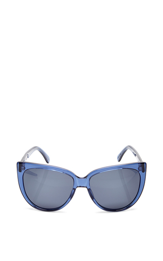 Medium prism blue moscow blue paint stoke sunglasses