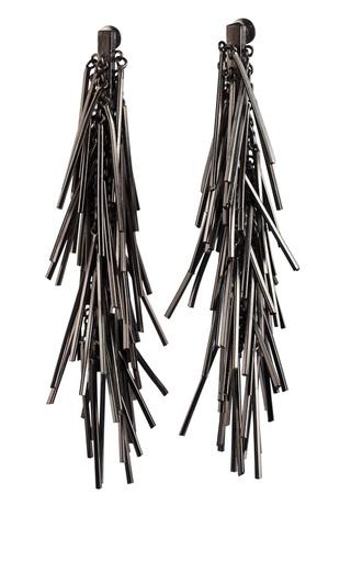 Medium eddie borgo dark grey tinsel earrings