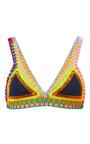 Tasmin Neon Threaded Navy Bikini Top by KIINI Now Available on Moda Operandi