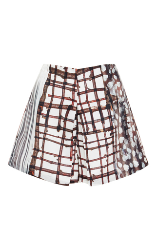 Blossoming Plaid Shorts by CLOVER CANYON Now Available on Moda Operandi