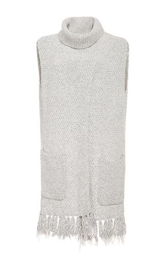 Medium thakoon addition light grey wool crossover sleeveless pullover