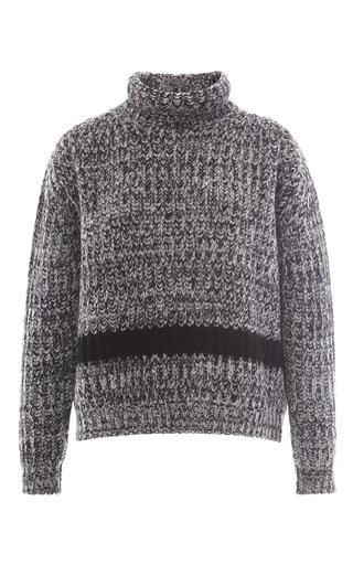 Wool Alpaca Oversized Cableknit Turtleneck Sweater by ROCHAS Now Available on Moda Operandi