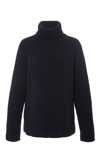 Medium antonio berardi navy navy cashmere turtleneck sweater