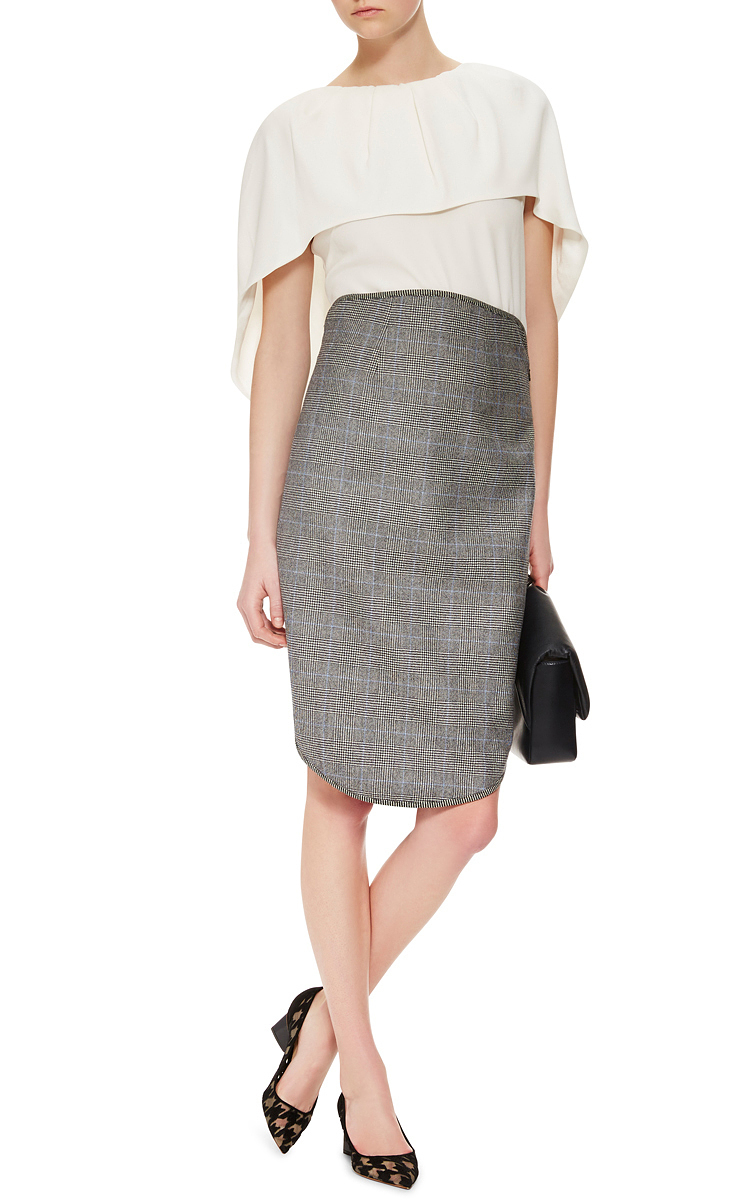 charcoal wool midi skirt by antonio berardi moda operandi