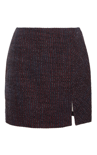 Tweed Fantaisie Mini Skirt by CARVEN Now Available on Moda Operandi