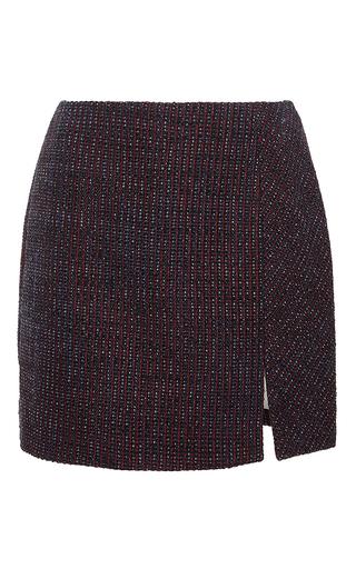 Tweed Fantaisie Mini Skirt by CARVEN Now Available on Moda Operandi