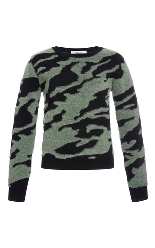 Medium carven navy camouflage jacquard sweater