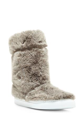 Medium joshua sanders tan beige faux fur boots