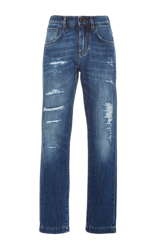 Distressed Boyfriend Jeans by DOLCE & GABBANA Now Available on Moda Operandi