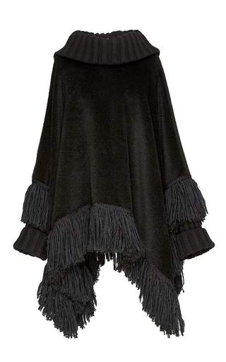 Alpaca And Cashmere Cowl Neck Poncho by DOLCE & GABBANA Now Available on Moda Operandi