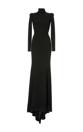 Medium dolce gabbana black black trumpet skirt maxi gown